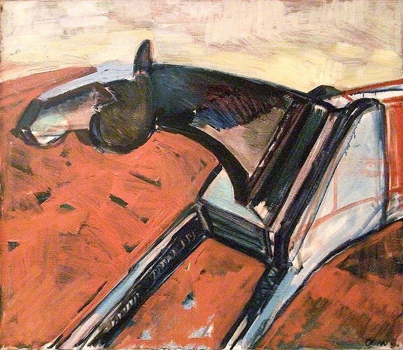 Hästhuvud av Maria Oom, 1988, tempera. Inköpt 1988.